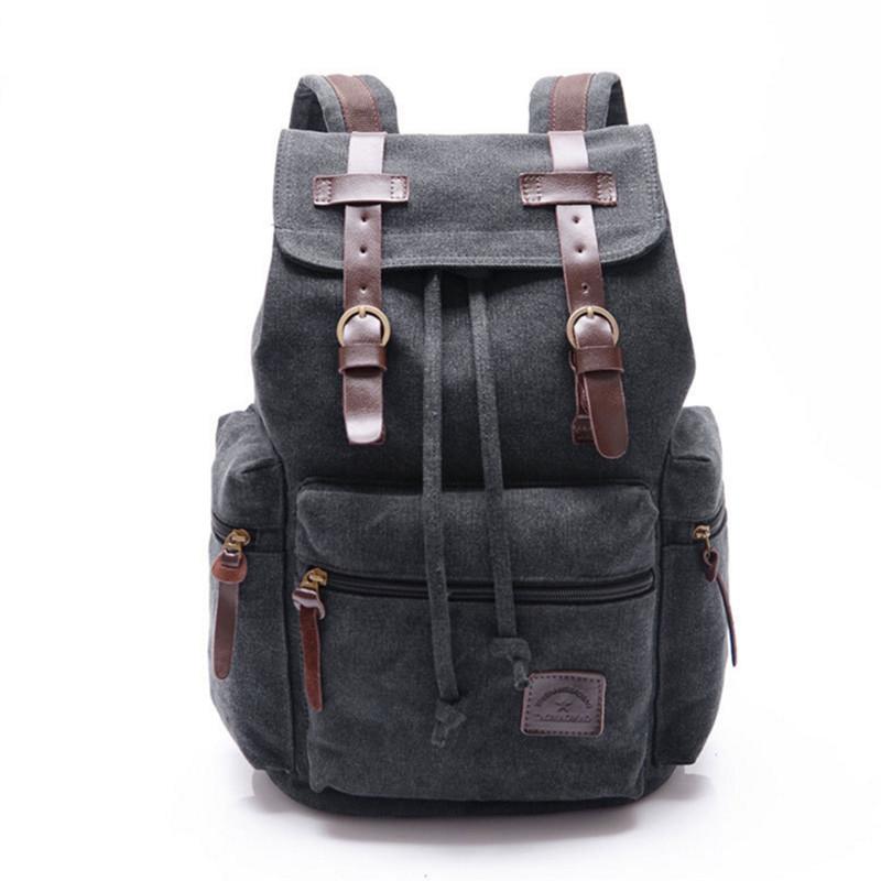 Vintage Retro Canvas Backpack fc2927ed02162