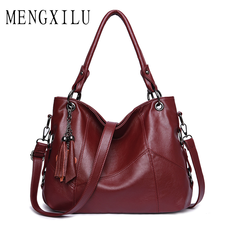 77d6fb8242d3 New 2018 Women s Leather Handbag